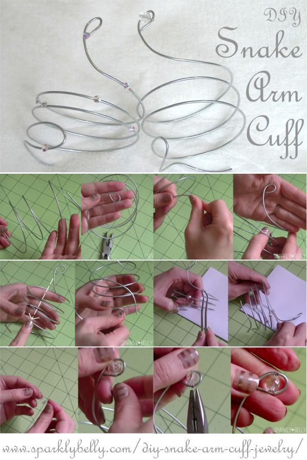 DIY Snake Arm Cuff Jewelry - SPARKLY BELLY