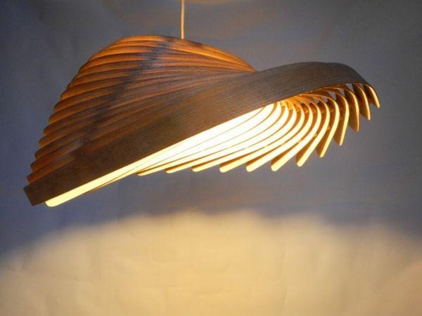 Lampe de plafond en bois