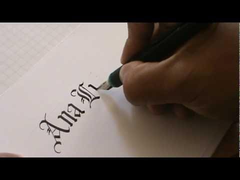 caligrafia gotica cuadrada