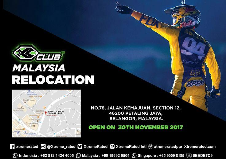 We Are Relocating XCLUB MALAYSIA SS2, PJ to new address No. 78, Jalan Kemajuan, Section 12, 46200 Petaling Jaya, Selangor, Malaysia.  #xtremerated #xclub #store #malaysia #selangor #motocross