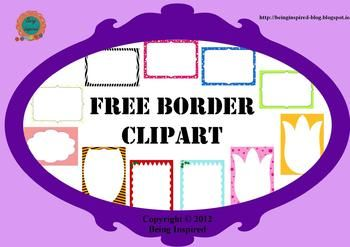 *Updated to add 5 more free borders and frames, including some Christmas ones!! Now you get 13 for free!!* Please rate and follow if you like them. :) And let me know if there's anything I can do to improve them.Enjoy these free borders! Use them to brighten up your worksheets and other teaching documents.