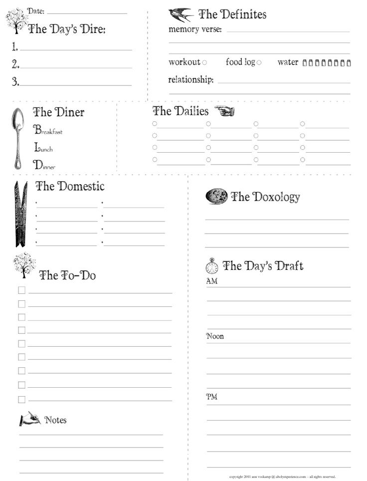 1126 best Planners & printables images on Pinterest | Planners ...