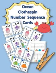 Ocean Fun and Learning Time!! Enter for your chance to win 1 of 4. Ocean Number Sequence Clothespin and Task Cards  (30 pages) from Sweetie's Surprise Party on TeachersNotebook.com (Ends on on 06-14-2017) Good Luck!  This is a great set to use for learning numbers!  There are three sets of number sequence cards using the numbers 1 to 20 Also, the same three sets are numbered to use with recording sheets for answers.  120 total cards!  Just print on cardstock, laminate, cut, and use!.