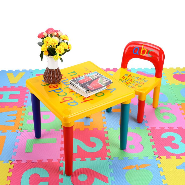 Chair Set For Kid/Children Furniture Sets and ABC Alphabet Plastic Table Dinner Picnic Desk Seat Furniture ($6.60)