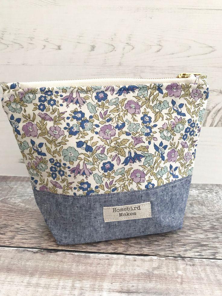 Project bag, Liberty bag, Make up bag, Cosmetic storage, Toilety bag, Liberty of London, Zipper bag, Hobby bag, Craft storage, Gifts for her