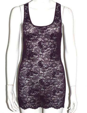 Wilfred Purple Lace Tank Top