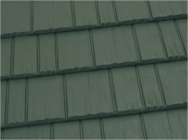 Rustic metal roof shingle, Deep Charcoal