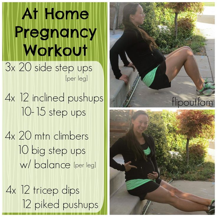 3rd Trimester Pregnancy Workout- workout you can do at home!