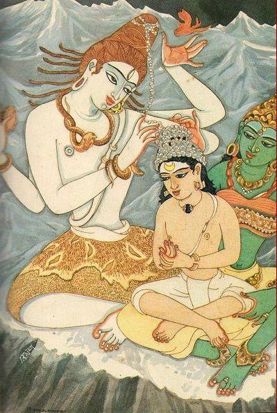 shiva teaches murugan