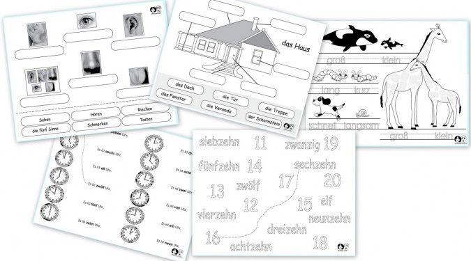 Free German Printable Worksheets
