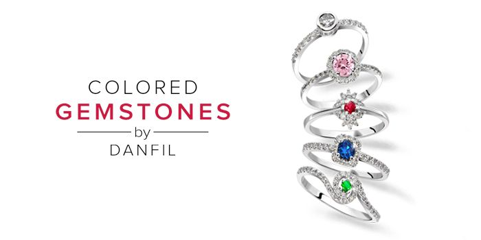Collection of jewels with Sapphires, Emeralds, Rubies and Diamonds  www.brilianty.cz
