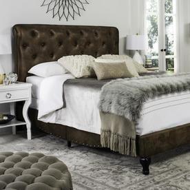 Safavieh Hathaway Coffee Queen Bed Frame Fox6214e-Q