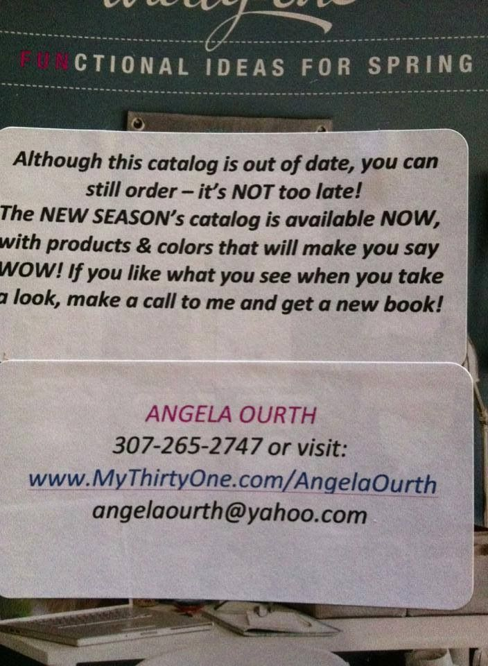 Idea for old thirty-one catalogs  http://youravon.com/junemarie