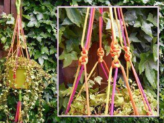 Tutoriel Suspension pour pot de fleurs en macramé () - Femme2decoTV