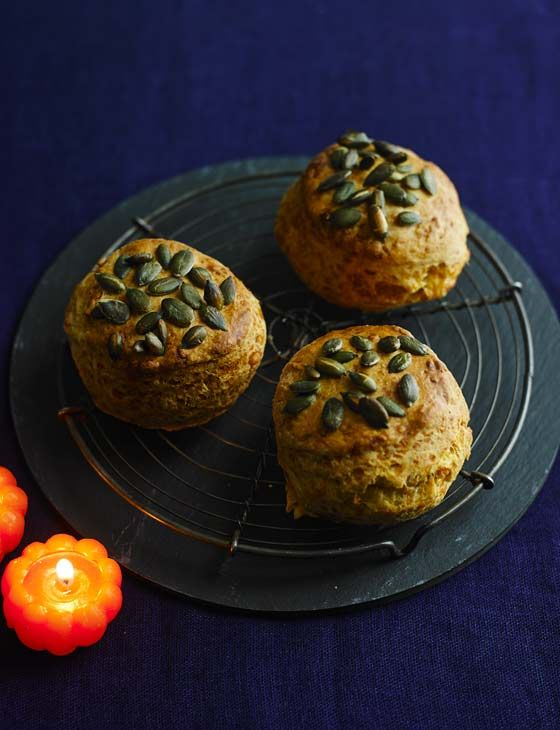 Cheese and pumpkin seed scones - perfect fresh out the oven and slathered with butter...