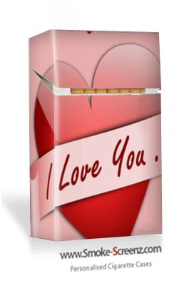 Say 'I Love You' with a personally designed cigarette case from www.smoke-screenz.com
