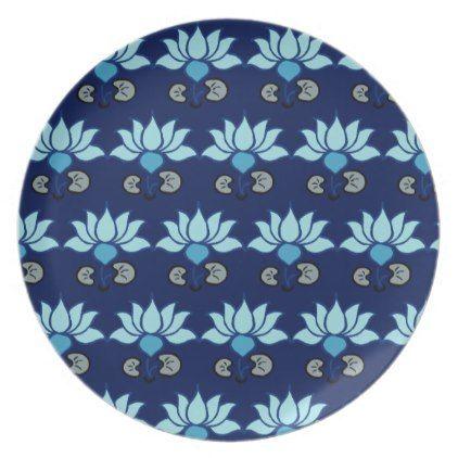 Blue Lotus Melamine Plate - kitchen gifts diy ideas decor ...