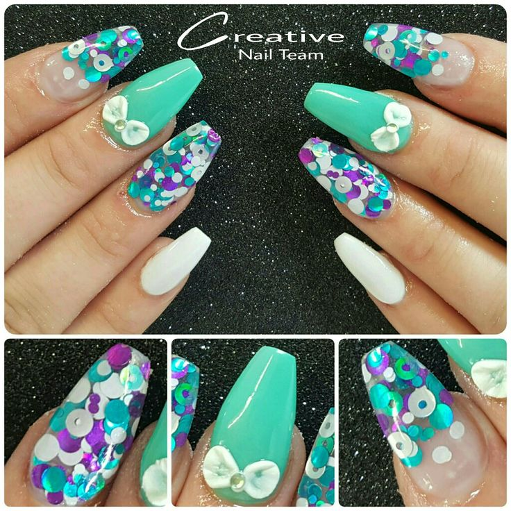 The 76 best Acrylic Nail Designs images on Pinterest | Acrylic nail ...