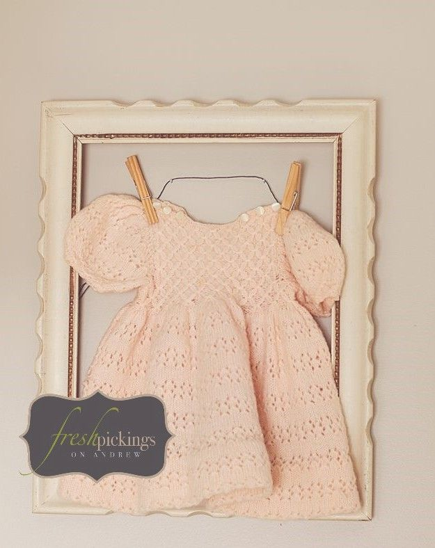 Pickings in their new home (C's nursery) ....Frame with C's grandma's dress by Rebecca S~