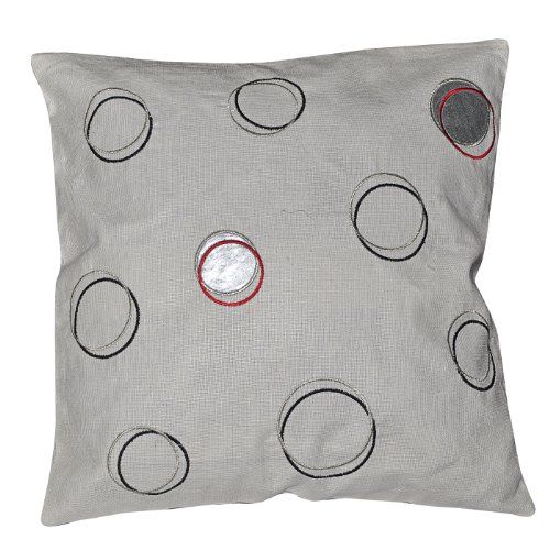 Off White Embroidered Cushion Cover - Throw Pillow Covers