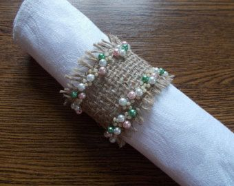 Napkin Rings. Burlap Napkin Rings. Rustic. by WineCountryAccents
