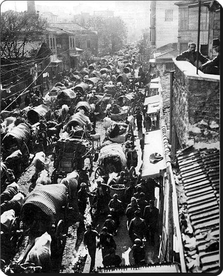 Birinci Balkan Savaşı sırasında Balkanlar'dan göçen muhacirler İstanbul'da - 1912