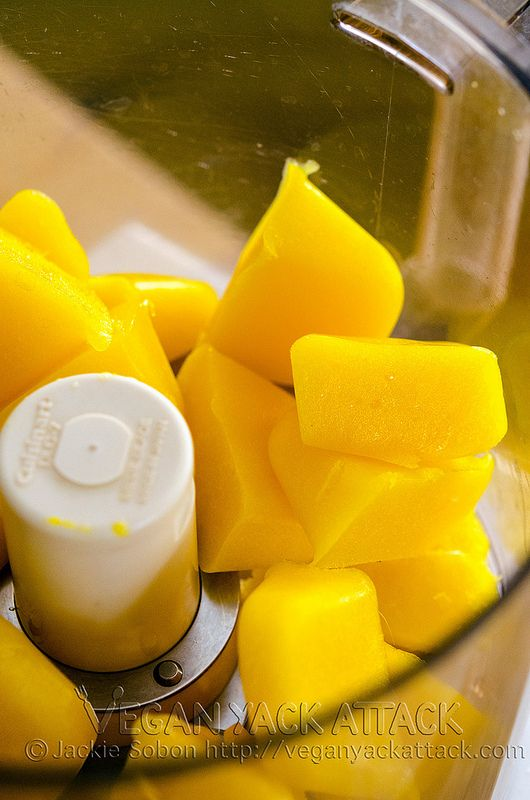 Mango Lime Sorbet- How to make it without an Ice Cream maker!