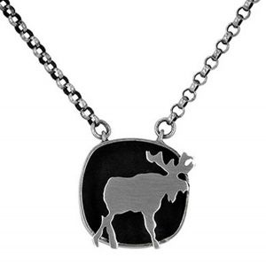 Moose necklace in sterling silver - $215