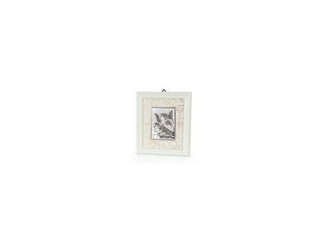 subtelny obrazek srebrny w ramce - Aniołek z latarenką