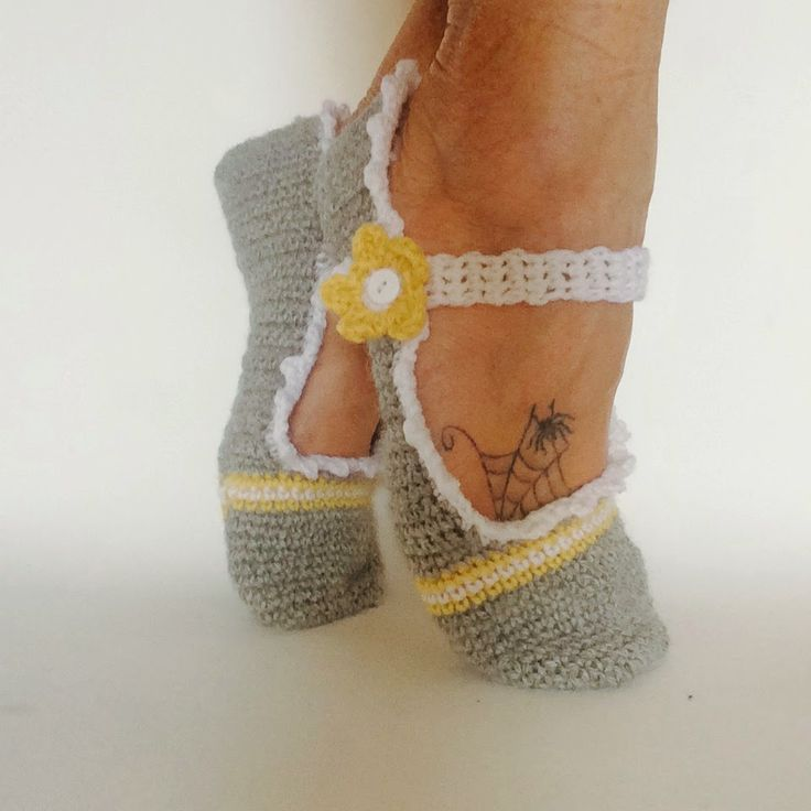wildaboutyarn: Yal year of the Flower March 2015 Mary-Lu Slip-ons