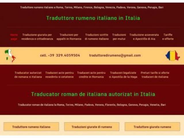 Traduttore ufficiale rumeno Roma - Annunci Gratuiti - Case, Affitti, Auto usate, Lavoro e Servizi - Inserzioni Online Gratis