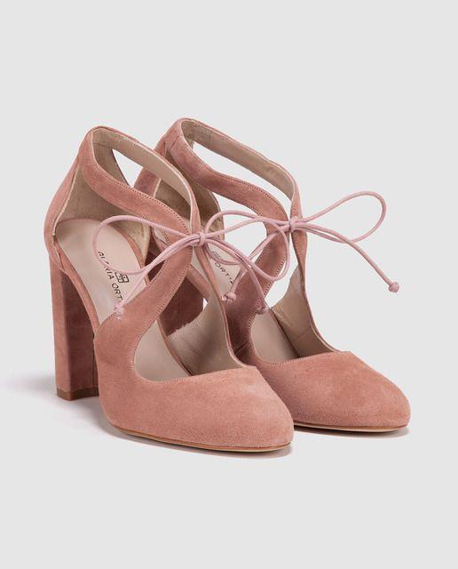 Zapatos de salón de mujer Gloria Ortiz  de piel rosas