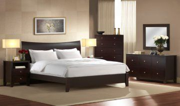 Canova Platform Bed | Bedroom Furniture Set by Lifestyle Solutions | Free Shipping - 4 PC Canova Queen Size Platform Bedroom Furniture Set b...