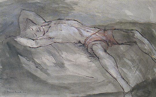 Boy laying on a bed