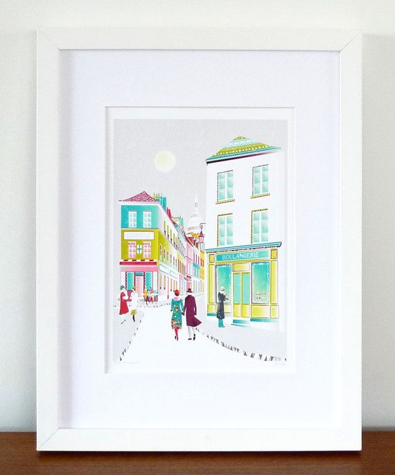 Hey, I found this really awesome Etsy listing at https://www.etsy.com/listing/90753800/paris-montmartre-french-cityscape-art