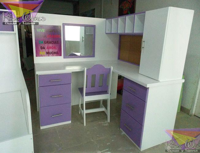 79 best images about muebles en morado on pinterest - Escritorios de ninas ...