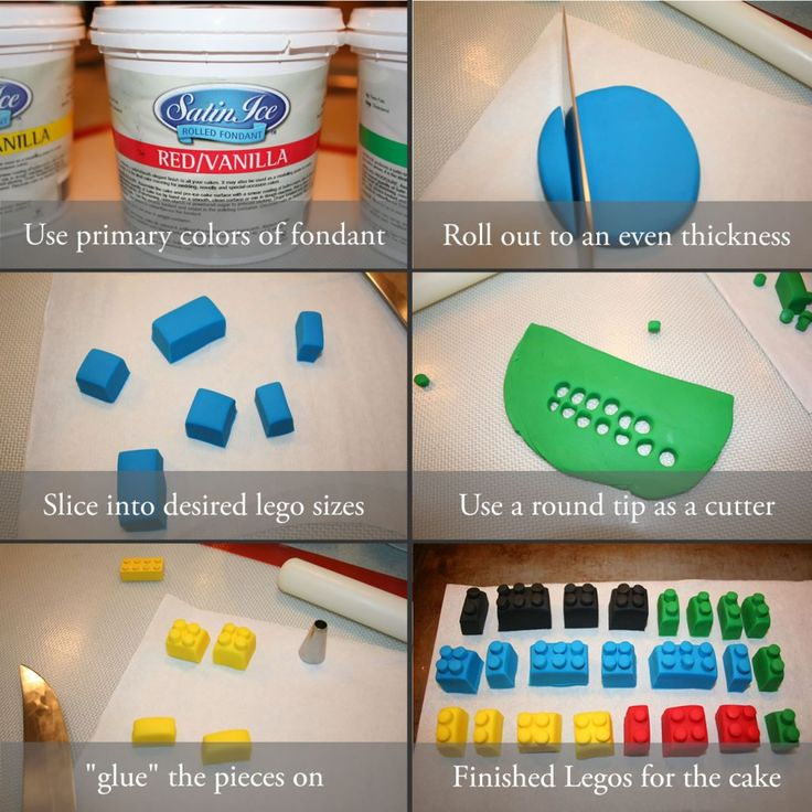 Fondant Legos Tutorial