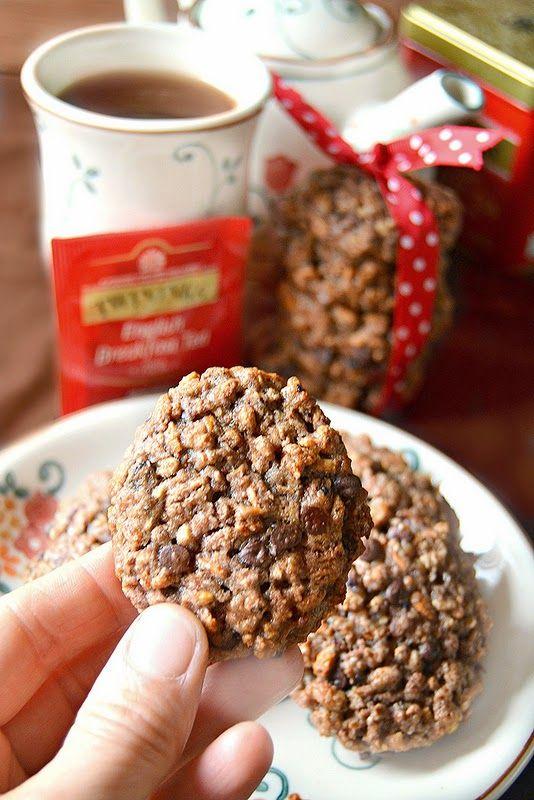biscotti di farro soffiato e gocce di cioccolato