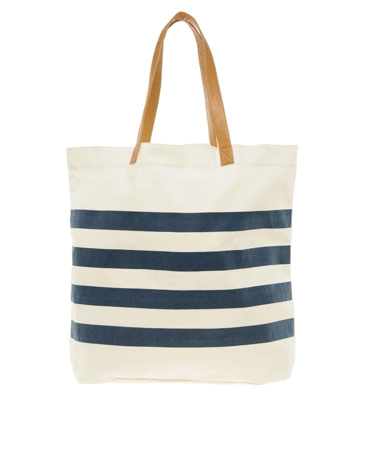 striped tote: Beach Tote, Island Striped, Shopper Stripes, River Island, Islands, Blue Stripes, Rivers