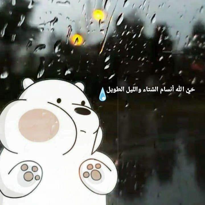 حي الله نسائم الشتاء والليل الطويل المطر الشتاء Rain Winter Arabic Quotes