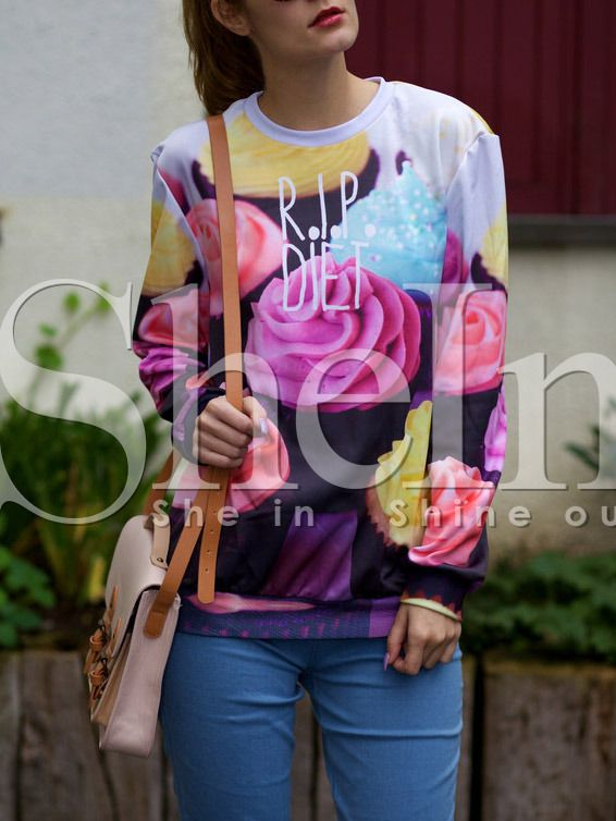 Shop Floral Crew Neck Rip Diet Print Sweatshirt online. SheIn offers Floral Crew Neck Rip Diet Print Sweatshirt & more to fit your fashionable needs.