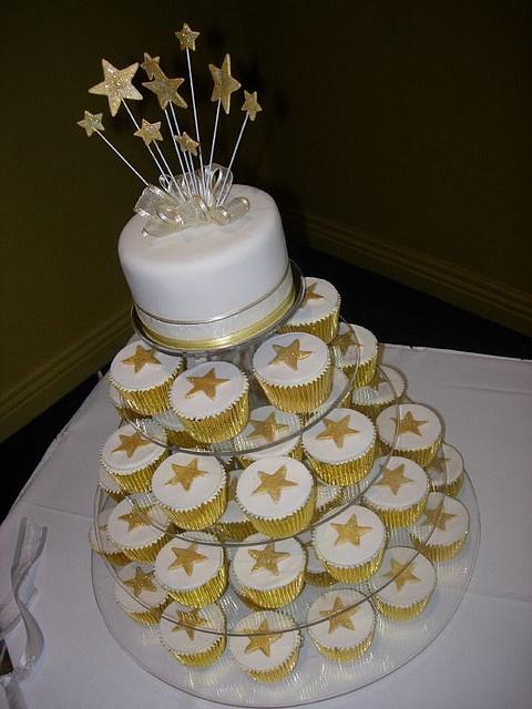 Golden Star Cake