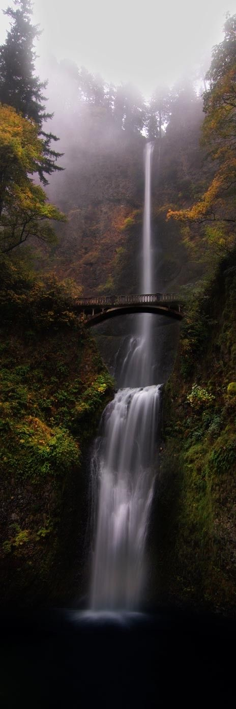Multnomah Falls - Portland, Oregon Even more beautiful in person - Click image to find more Travel Pinterest pins http://www.pinterest.com/halinalis/breathtaking-view/