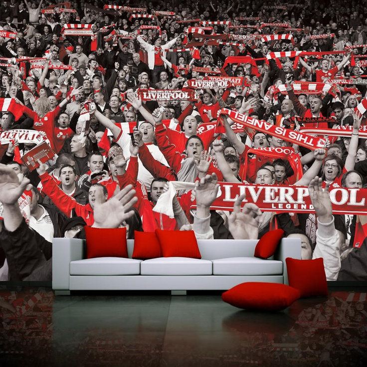Create your own unique wallpaper mural featuring Liverpool FC licensed images or upload your own photos at www.sportswalls.co.uk