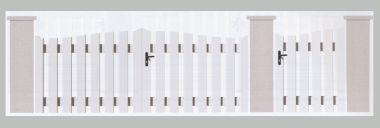 Portail PVC laqué blanc Loir et Cher
