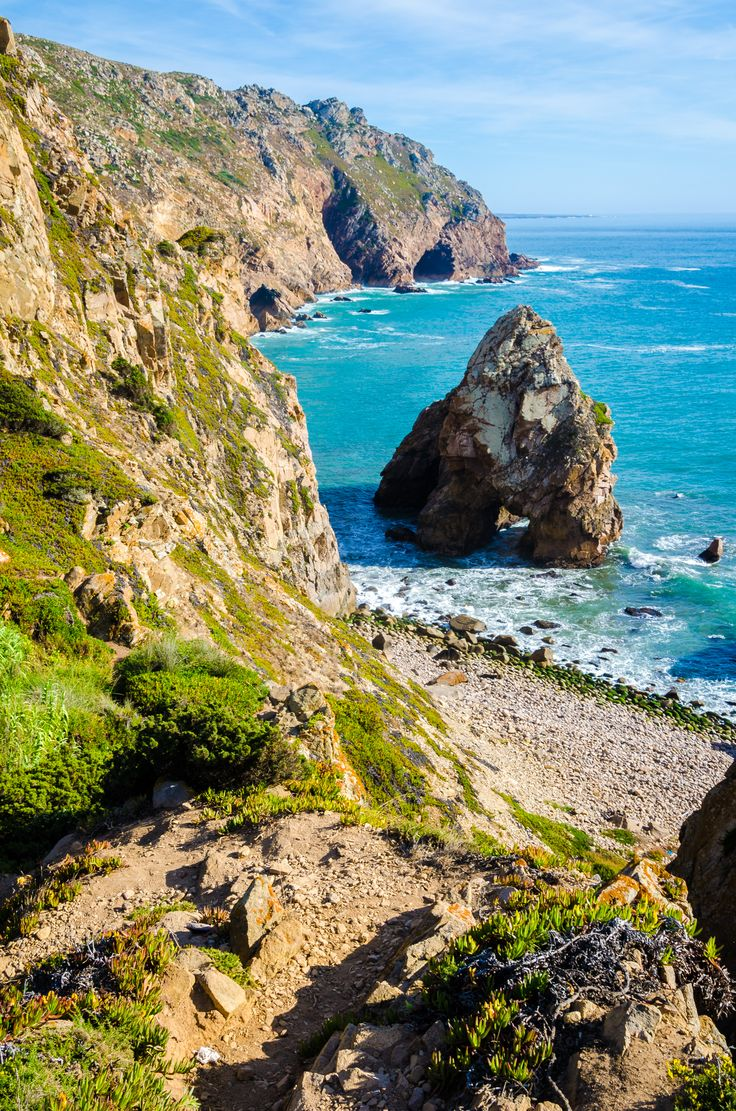 The cliffs at Cabo da Roca Portugal  the westernmost point in continental Europe [OC][25003775] #reddit
