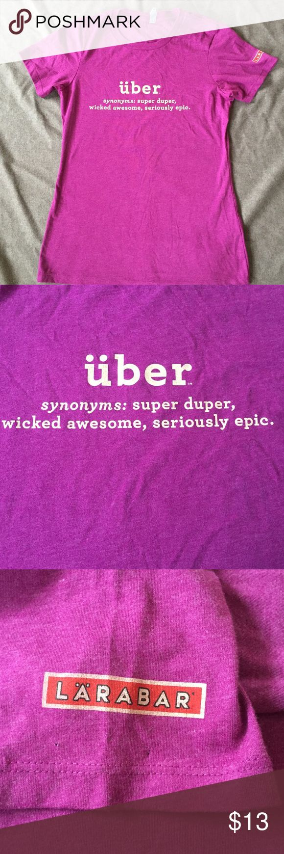 Purple pinkish Uber shirt great condition no stains or holes  from next level apparel Next Level Apparel Tops Tees - Short Sleeve