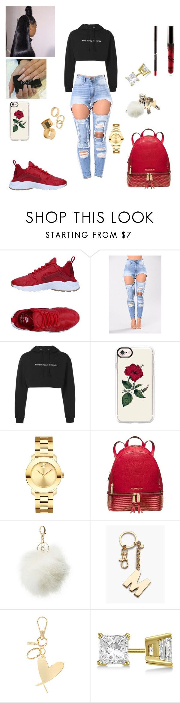 """#Mall Run👫💭❤️🤭"" by prxncessm ❤ liked on Polyvore featuring NIKE, F.A.M.T., Casetify, Movado, Michael Kors, Avon, Charlotte Russe, Talbots, Victoria's Secret and Allurez"