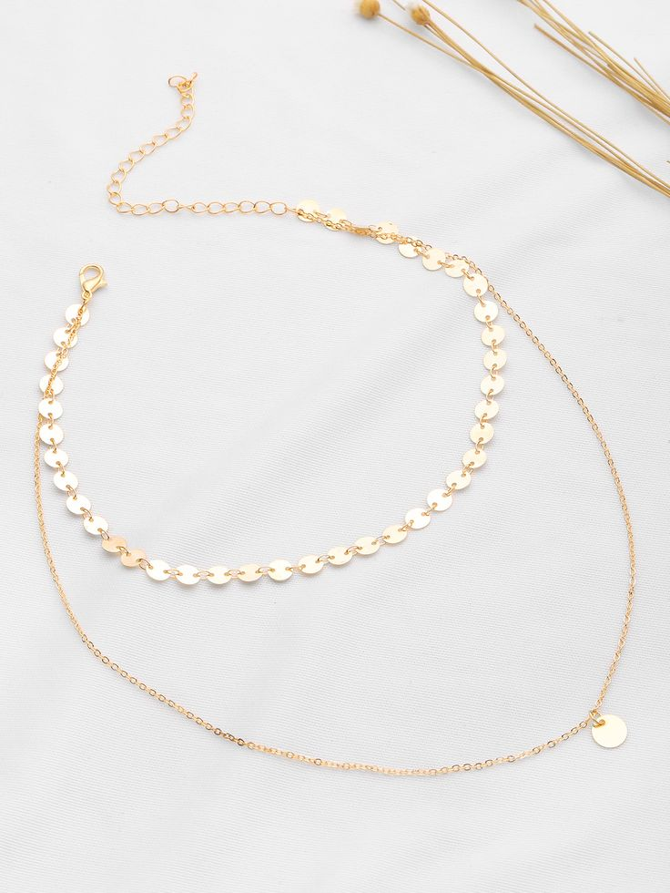 Shop Coin Fringe Detail Delicate Necklace online. SheIn offers Coin Fringe Detail Delicate Necklace & more to fit your fashionable needs.