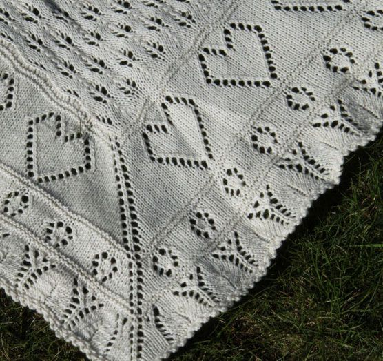 17 best Heart Knitting Patterns Baby Blankets images on ...
